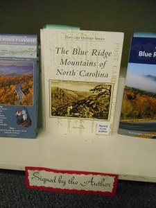 My book on the shelf at Highland Books in Brevard, NC.