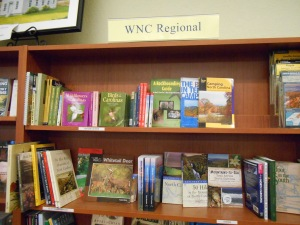 Western North Carolina section in Blue Ridge Books, Waynesville, NC.