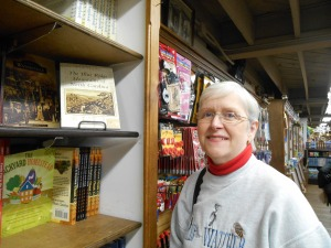 My book displayed at Mast General Store in Waynesville, NC.