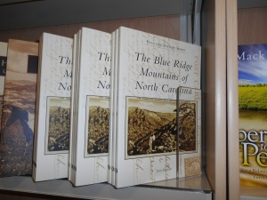 The Blue Ridge Mountains of North Carolina on the shelf at Lake Junaluska Bookstore.