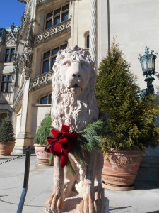 Lion at The Biltmore House, all decked out for Christmas. I had my picture taken with this same lion in 1964 or 1965 while on a school field trip.