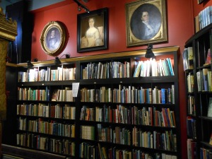 Western North Carolina section at Asheville's Battery Park Book Exchange & Champagne Bar.