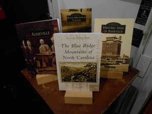 My book on display with three other Arcadia Publishing books at Battery Park Book Exchange & Champagne Bar.