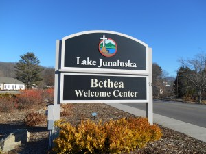 Welcome Sign at Lake Junaluska, NC.