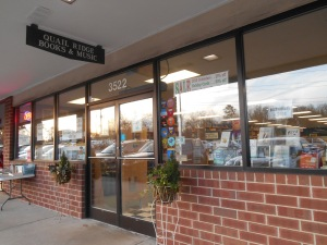 Entrance to Quail Ridge Books & Music in Raleigh.