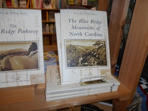 Janet's book on display at Books Unlimited in Franklin, NC.