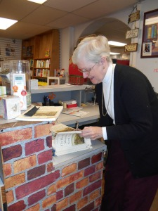 Janet, autographing her book at Books Unlimited in Franklin, NC.