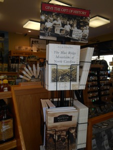 My book on the Arcadia Publishing spinner at Smoky Mountain Visitor Center, Franklin, NC.