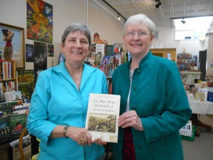 Janet with Penny Padgett, owner of The Book Shelf.