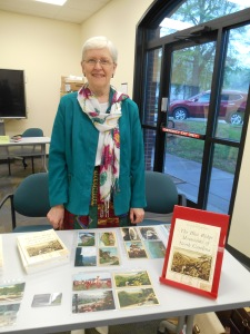 Janet at her table at the Local Author Fair in Kannapolis on April 25, 2015.