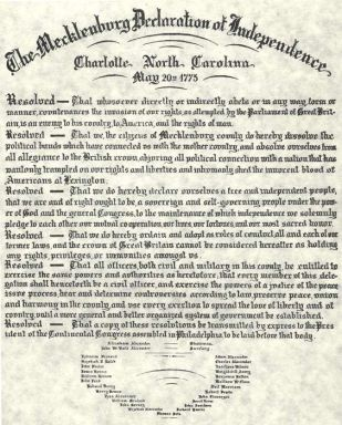 Mecklenburg Declaration of Independence
