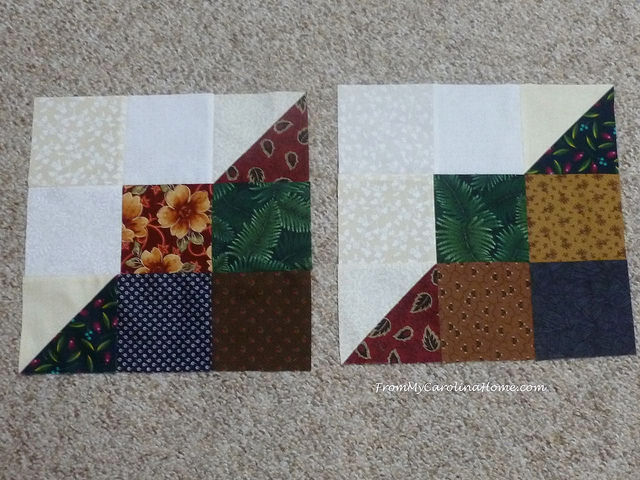 Sample Carolina Hurricane Quilt Blocks