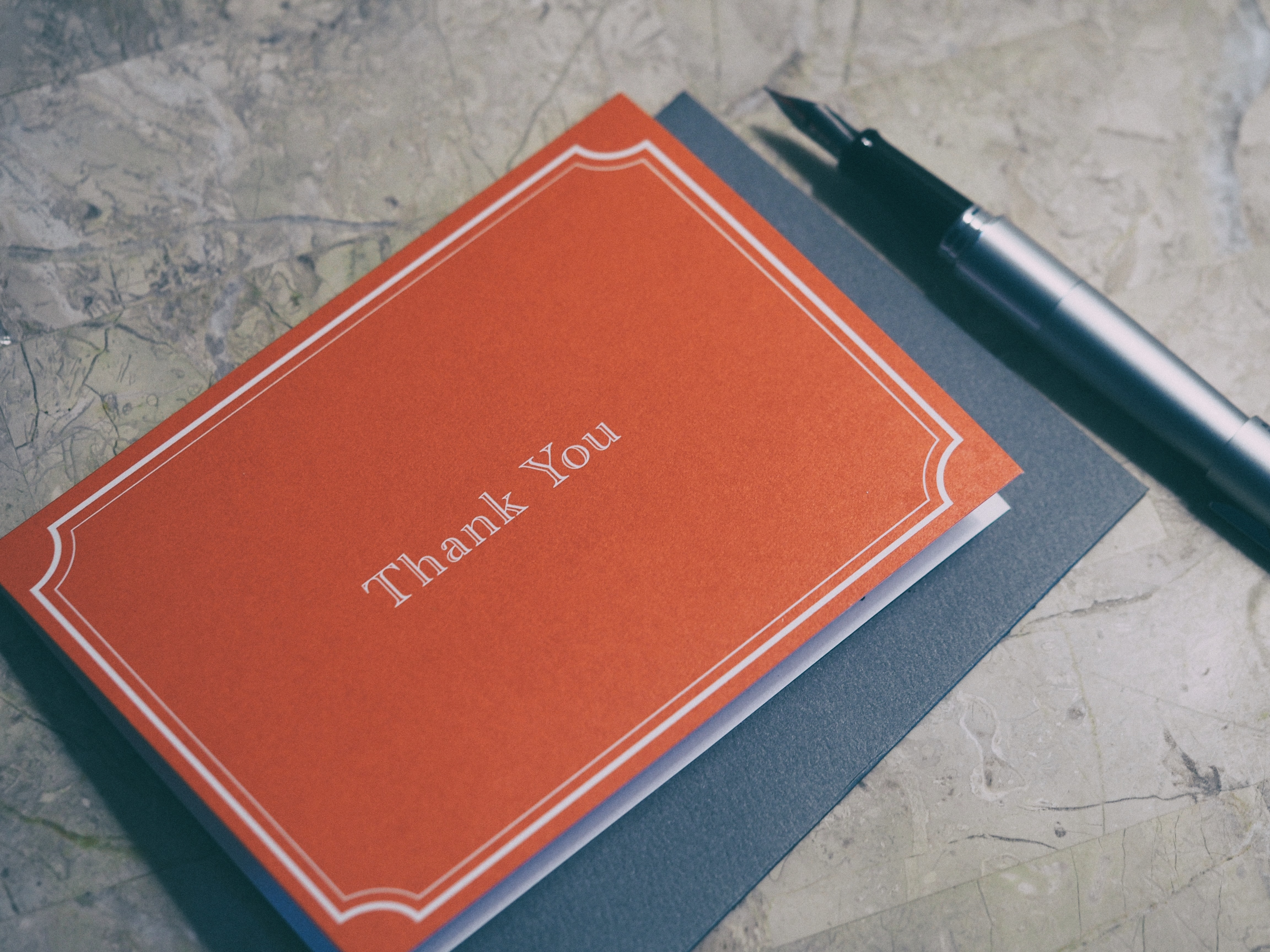 A thank-you note