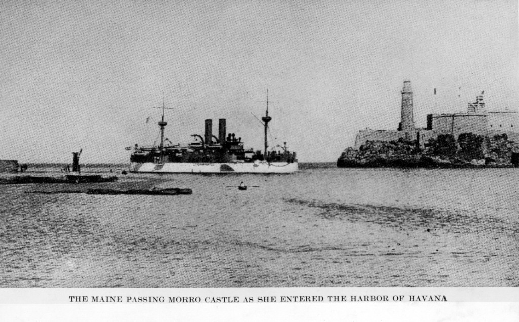 USS Maine three weeks before it sank in Havana harbor.